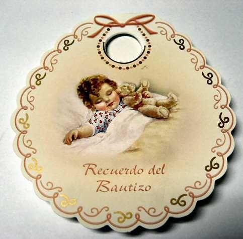 Tarjeta Recuerdo Del Bautizo Rosa