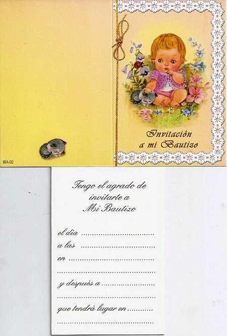 Tarjeta De Bautizo Niña