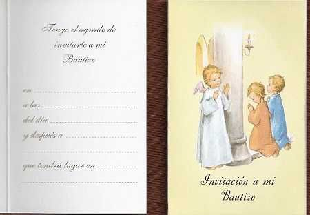 Tarjeta Invitacion Bautizo Angel De Mi Guarda