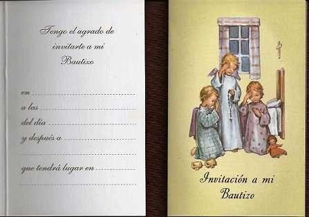 Tarjeta Invitación A Mi Bautizo